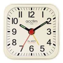 Acctim Maldon Alarm Clock - White
